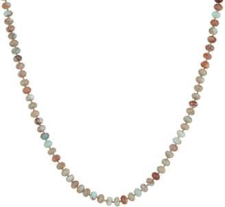 "24"" Opaque Jasper Rondel Bead Necklace, Sterling"