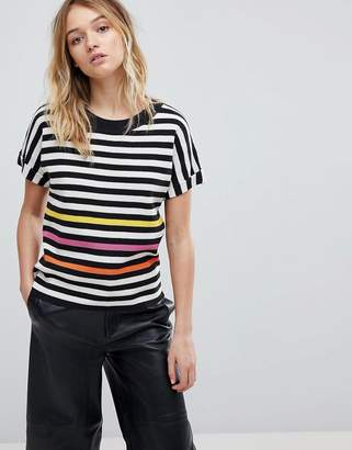 Paul Smith Ps Ps By Stripe Knit Top