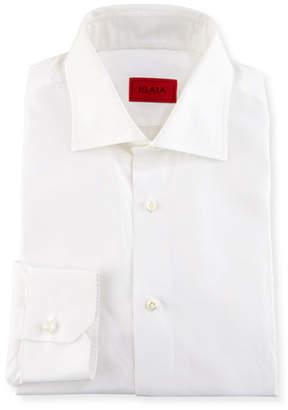 Isaia Basic Solid Cotton Dress Shirt