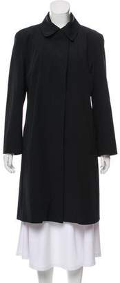 Burberry Button-Up Rain Coat