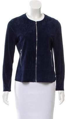 Ecru Suede Lightweight Jacket