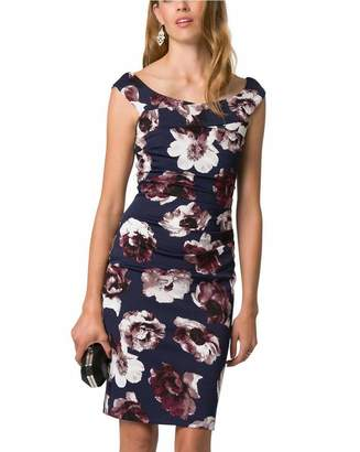 Le Château Women's Floral Off-The-Shoulder Cocktail Dress,XL