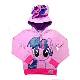 Asstd National Brand My Little Pony Girls Twilight Sparkle Costume Hoodie with Crystalline and 3D Mane and Wings