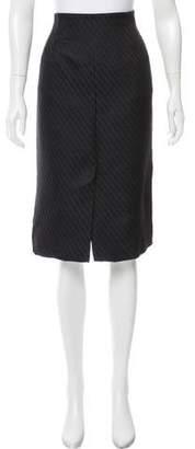 Armani Collezioni Jacquard Knee-Length Skirt