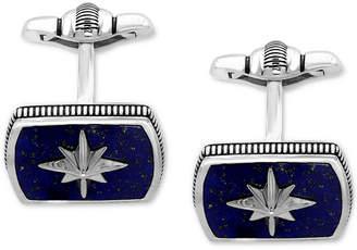 Effy Men's Lapis Lazuli (16-1/2 x 12mm) Starburst Cuff Links in Sterling Silver