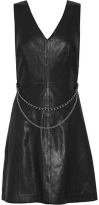 Muu Baa Muubaa Handley Chain-embellished Leather Mini Dress