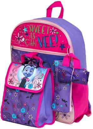 Disney Disney's Vampirina Kids Backpack, Cinch Sack, Lunch Bag, Zip Pouch & Water Bottle Set