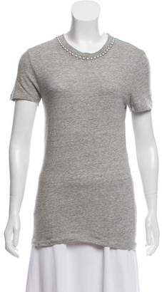 Acne Studios Embellished Short Sleeve Top