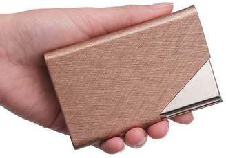 Teemzone Generic Leather and Stainless Steel Business Name Card Case Holder