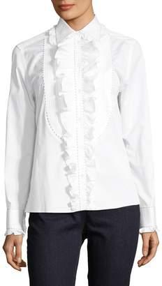 Dolce & Gabbana Women's Ruffle Front Blouse