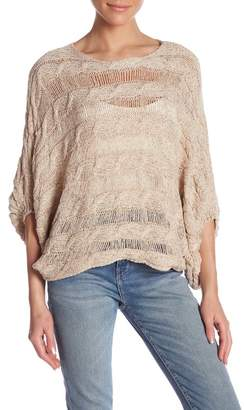 Molly Bracken Scoop Neck Metallic Sweater
