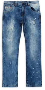 Diesel Boy's Distressed Washed Jeans