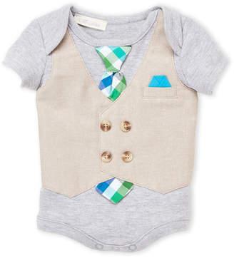 Miniclasix Newborn Boys) Vested Bodysuit