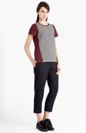Marni Houndstooth Front Jersey Tee