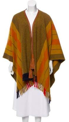 Hermes Striped Knit Shawl