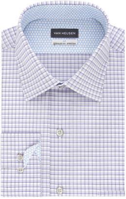 7437339366a36e Van Heusen Air Stretch Long Sleeve Yarn Dyed Woven Checked Dress Shirt- Big  And Tall