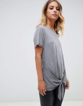 AllSaints Yato knot front t-shirt