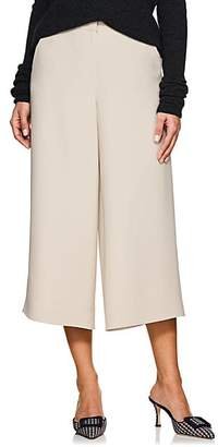 Giorgio Armani Women's Wool-Angora Wide-Leg Trousers - Brown