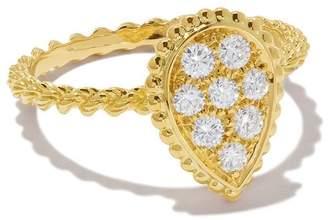 Boucheron 18kt yellow gold Diamond Serpent Bohème ring