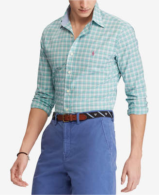 Polo Ralph Lauren Men's Slim Fit Plaid Stretch Shirt