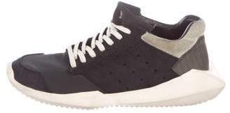 Rick Owens x Adidas Suede Low-Top Sneakers
