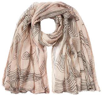 Faliero Sarti Printed Cotton Scarf with Silk