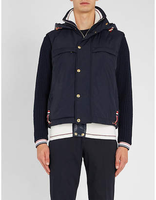 Thom Browne Funnel-neck shell-down jacket