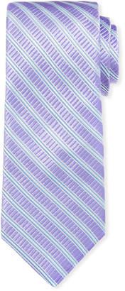 Ike Behar Men's Cabana Stripe Silk Tie