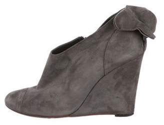 Tibi Suede Wedge Boots