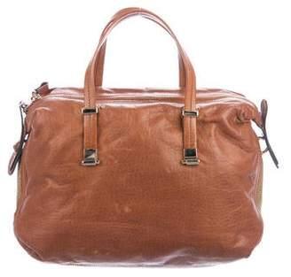 Valentino Embellished Leather Satchel
