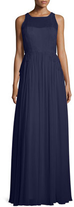 Donna Morgan Penelope Sleeveless A-Line Gown $300 thestylecure.com