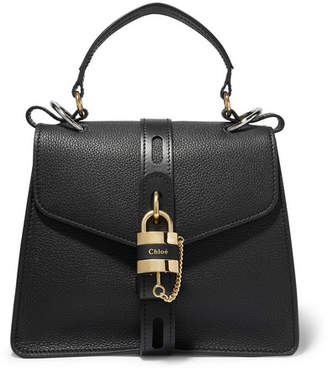 Chloé Aby Small Textured-leather Tote - Black