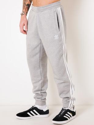 adidas 3 Stripe Pant in Grey Marle