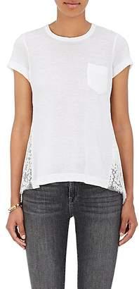 Sacai Women's Combo Crossover-Back T-Shirt