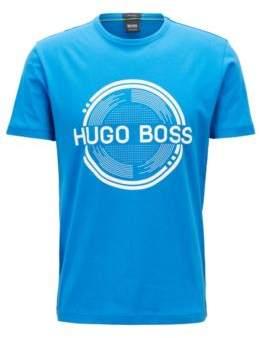 BOSS Hugo Short-sleeved printed T-shirt in single-jersey cotton XXXL Blue