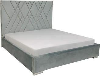 Safavieh Bermudez Velvet Queen Bed