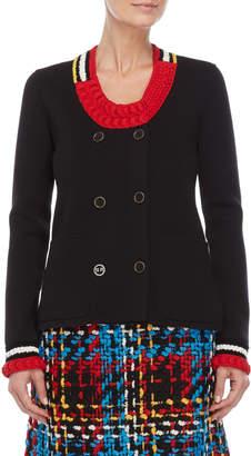 Sonia Rykiel Double-Breasted Stripes Jacket