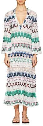 Missoni Mare Women's Striped Geometric-Knit Maxi Caftan