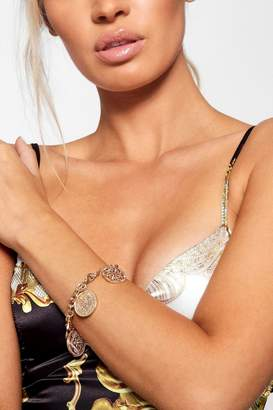 boohoo Gold Coin Chain Bracelet