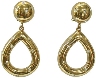 One Kings Lane Vintage Givenchy Gold Starlight Knocker Earrings - Wisteria Antiques Etc