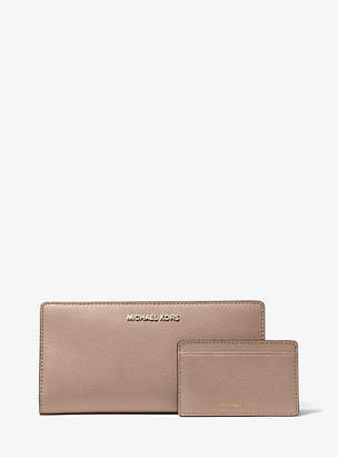Michael Kors Jet Set Large Saffiano Leather Slim Wallet
