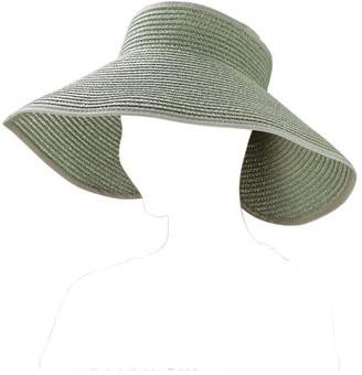 AERUSI Fashion Women's and Girl's roll-up Summer Bow Tie Straw Visor Sun Hat