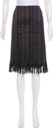 Dries Van Noten Striped Knee-Length Skirt w/ Tags