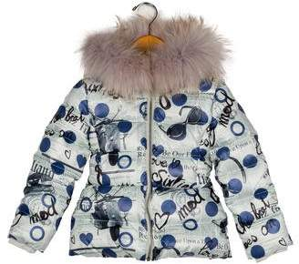 John Galliano Girls' Printed Puffer Coat