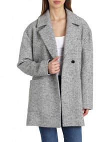 Herringbone Wool-Blend Cocoon Coat
