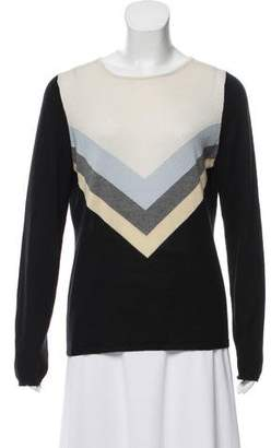 L'Agence Silk-Blend Crew Neck Sweater