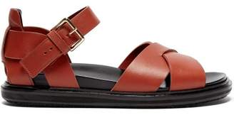 Marni Fussbett Leather Sandals - Womens - Tan