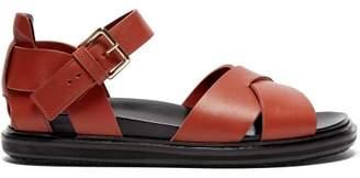 Marni Fussbett Leather Sandals - Womens - Tan
