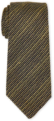 Burberry Olive Stripe Silk Tie