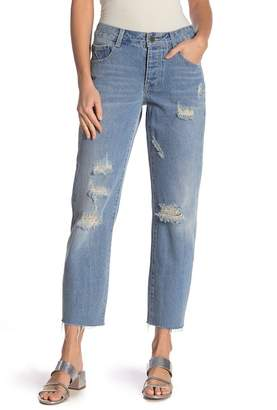 LOST INK Low Rise Straight Leg Jeans